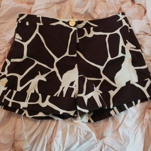 NWOT Tory  Burch animal print shorts